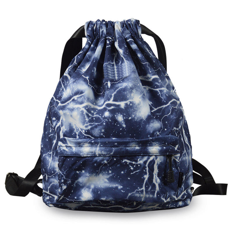 Factory direct selling print shoulder bag sports drawstring backpack bag with best quality