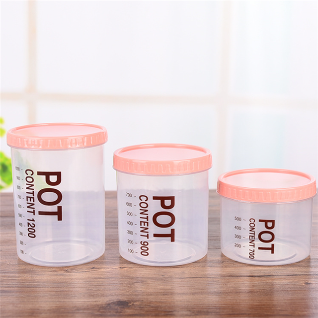 Low Price Good Promotion Round Keep Freshness Kitchen Plastic Food Storage Container With Lid Portable Stackable BPA Free