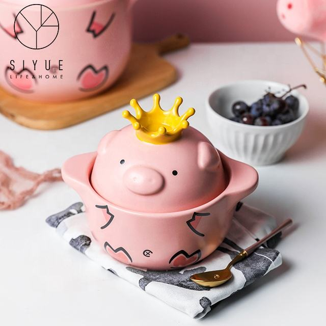 Home gas mini cartoon high temperature open flame web celebrity piglet stew pot