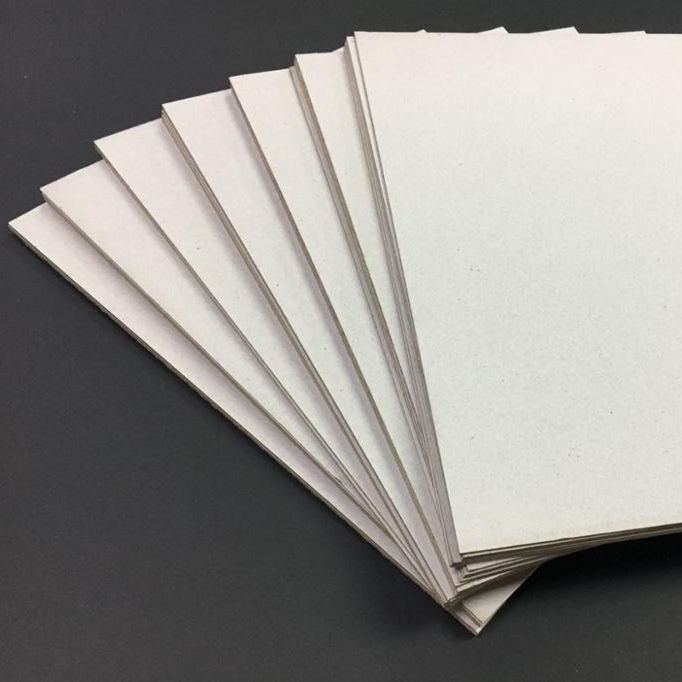 0.3 to 3.5mm 250to2500gsm Gray Chipboard Duplex Laminated Grey Board