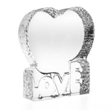 heart shape wedding glass gift 3d crystal picture frame and 3d photo crystal laser engraving