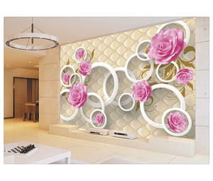 3D Photo Wallpaper Elegant Beautiful flower Large Wall Mural for house