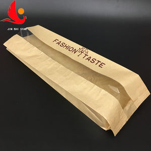 Customized grease food grade Kraft paper bag for bread packing