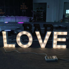 Stand Stainless Steel Love Letters Led Bulb Channel Letter