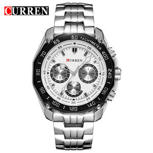 2019 Wholesale OEM man watch CURREN 8077 wrist luxury set quartz watch Factory price fashion new men watch