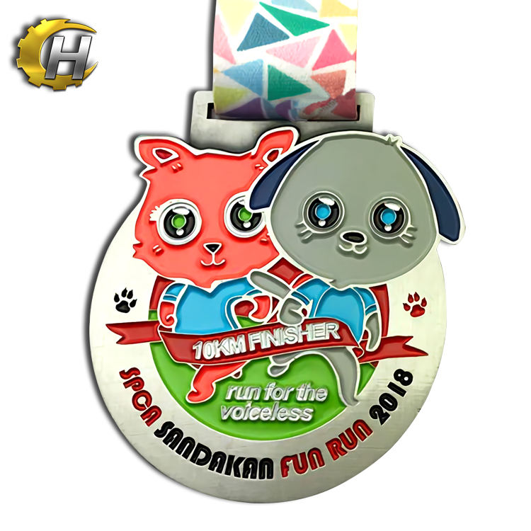 Medal manufacturer custom sport metal casting big medals with ribbon
