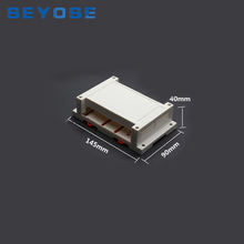 PNT-05 plastic din rail enclosures with terminal Block abs case housing for PCB design 145x90x40mm