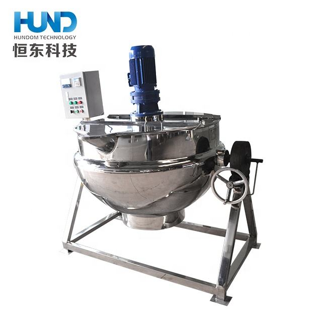 500 liter Tilting electric /steam jacketed cooking kettle with mixer