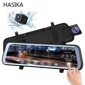 9.66 inch Mirror Dash Cam Touch Full Screen 1080P 170 Full HD Dual lens 140Wide Angle Full HD Rear View Camera