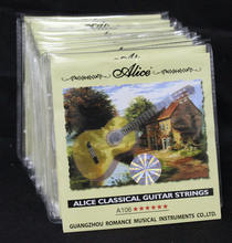 Alice brand A106-H High Tension Clear Nylon Silver-Plated Copper Alloy Classical Guitar Strings