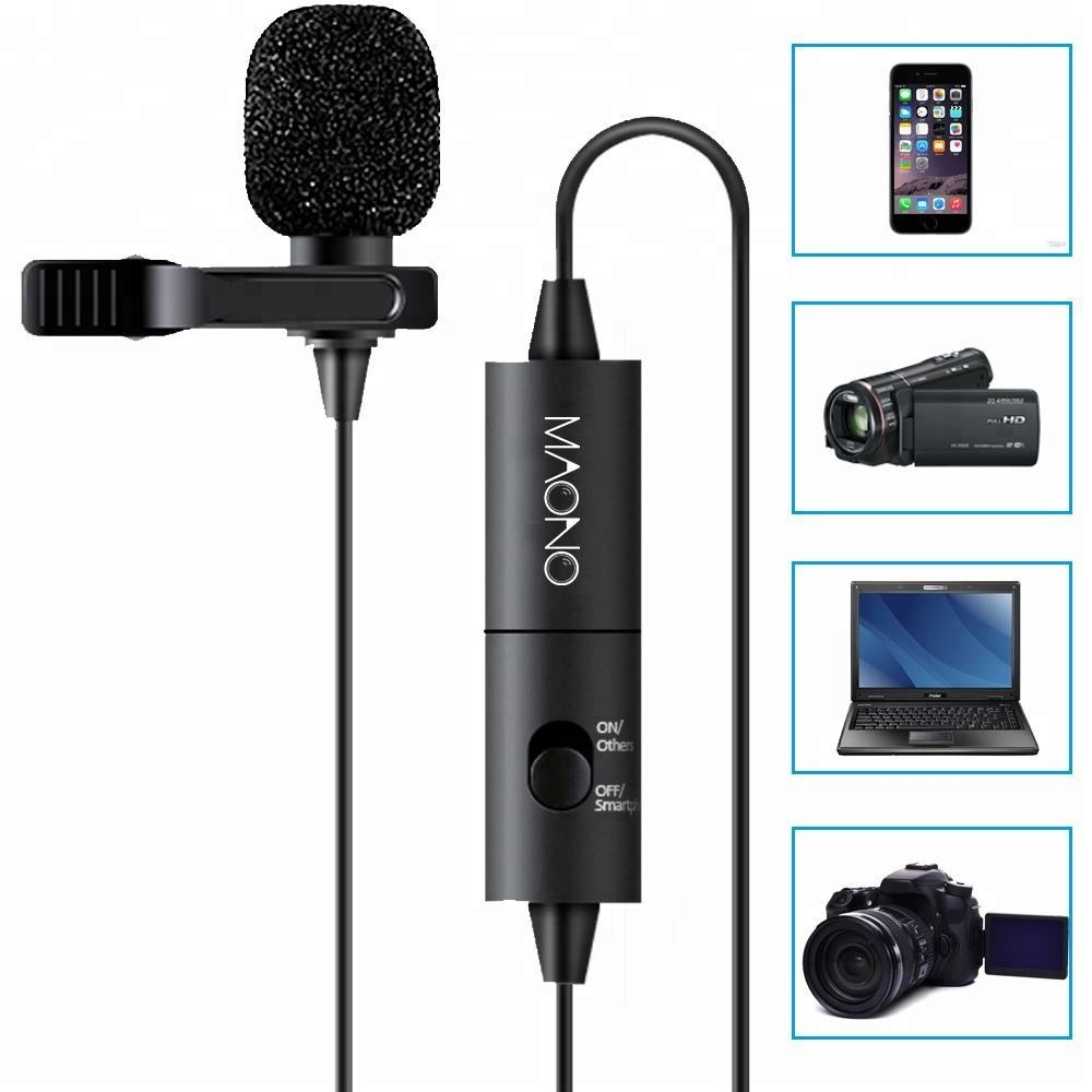 Fully compatible conference microphone tie clip microphone for laptop