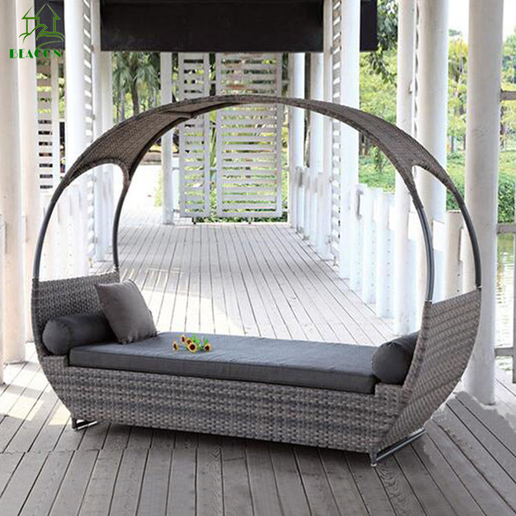 Garden bed furniture out door daybed patio rattan daybed