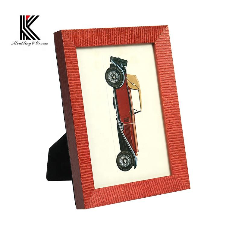 الأحمر الأبيض الأزرق المكسيكي الأفريقي الخشب الخطوبة 2x2 الصورة إطار الصورة ل هدية