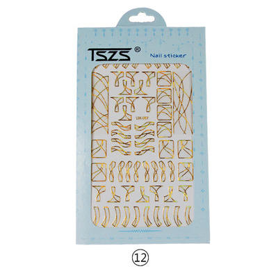 TSZS newest lsika Geometric shape custom designs nail art line stickers