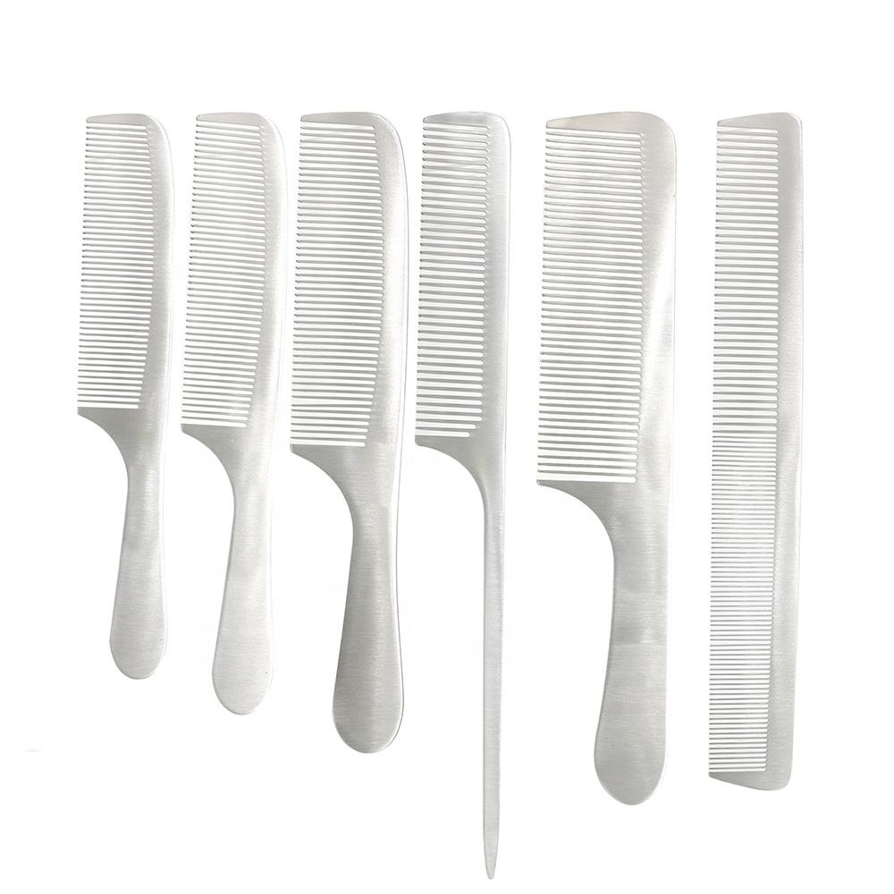 High Quality Salon Barber Stainless Steel Comb Fine Tooth Metal Hair Cutting Comb