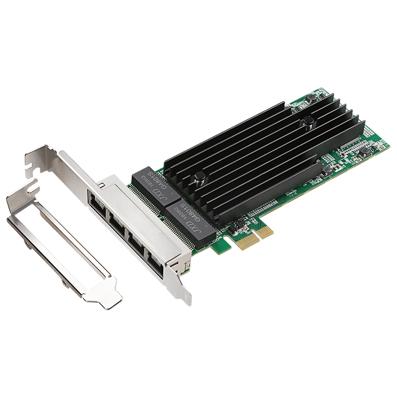 4 Port Intel 82576 PCIe Network card 10/100/1000M Gigabit Ethernet Network Lan Card support Full duplex /Half Duplex