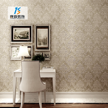 Modern 3d embossed nonwoven hotel room wallpaper