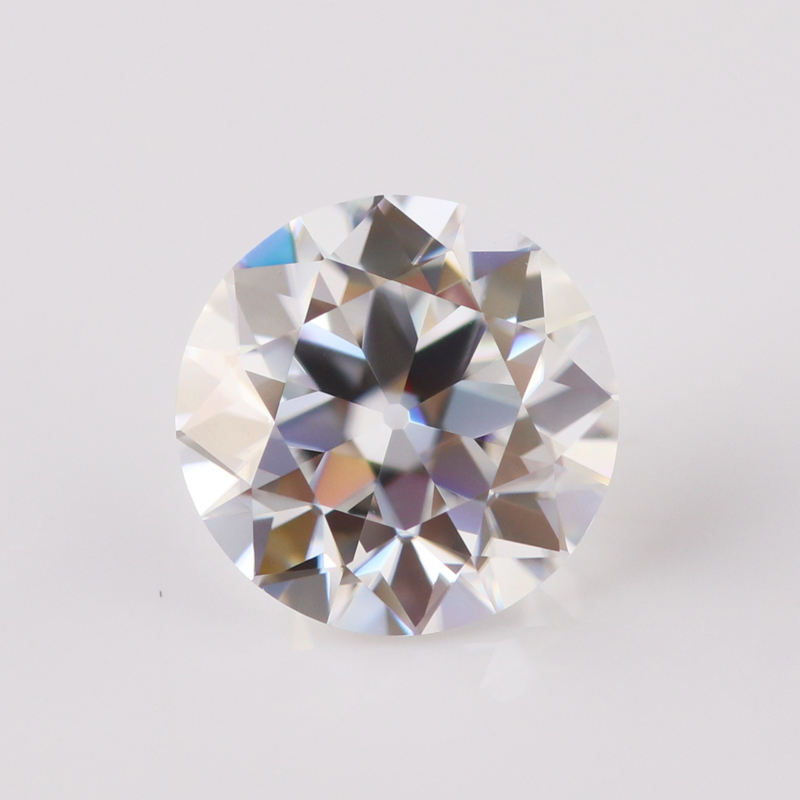 Big size 8mm 2carat round shaped old european cut moissanite moissanite stones in stock