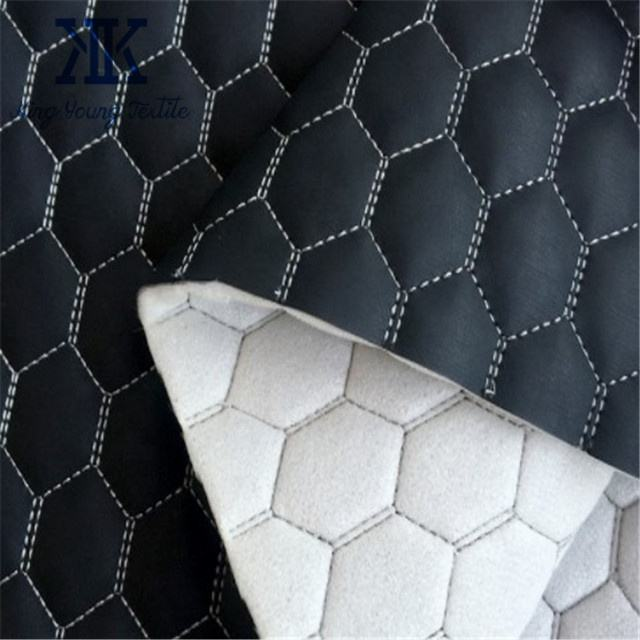 sofa faux leather fabric / quilted pu leather for sofa / foam bonded leather for furniture