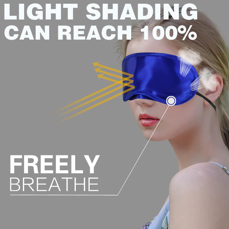 190D Polyester Private Label Blindfold Night Promotional Soft Sleep Eye Mask