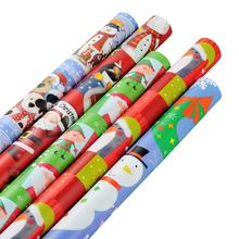 Factory Price Fancy CMYK color Christmas gift wrapping paper roll