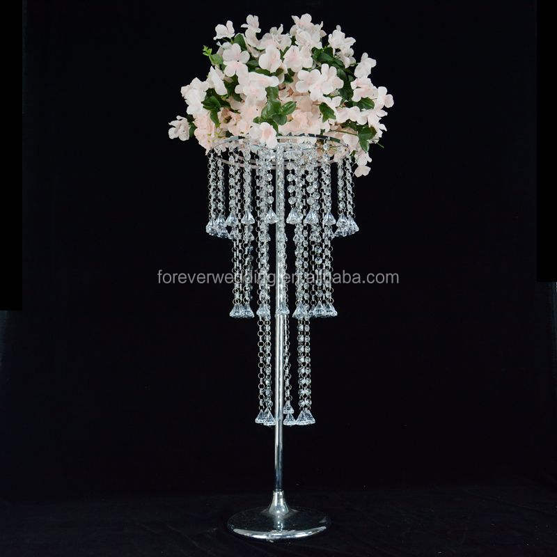 80cm Height Crystal flower stand Chandelier Wedding Table centerpiece decoration lead road flower stand mariage decoration