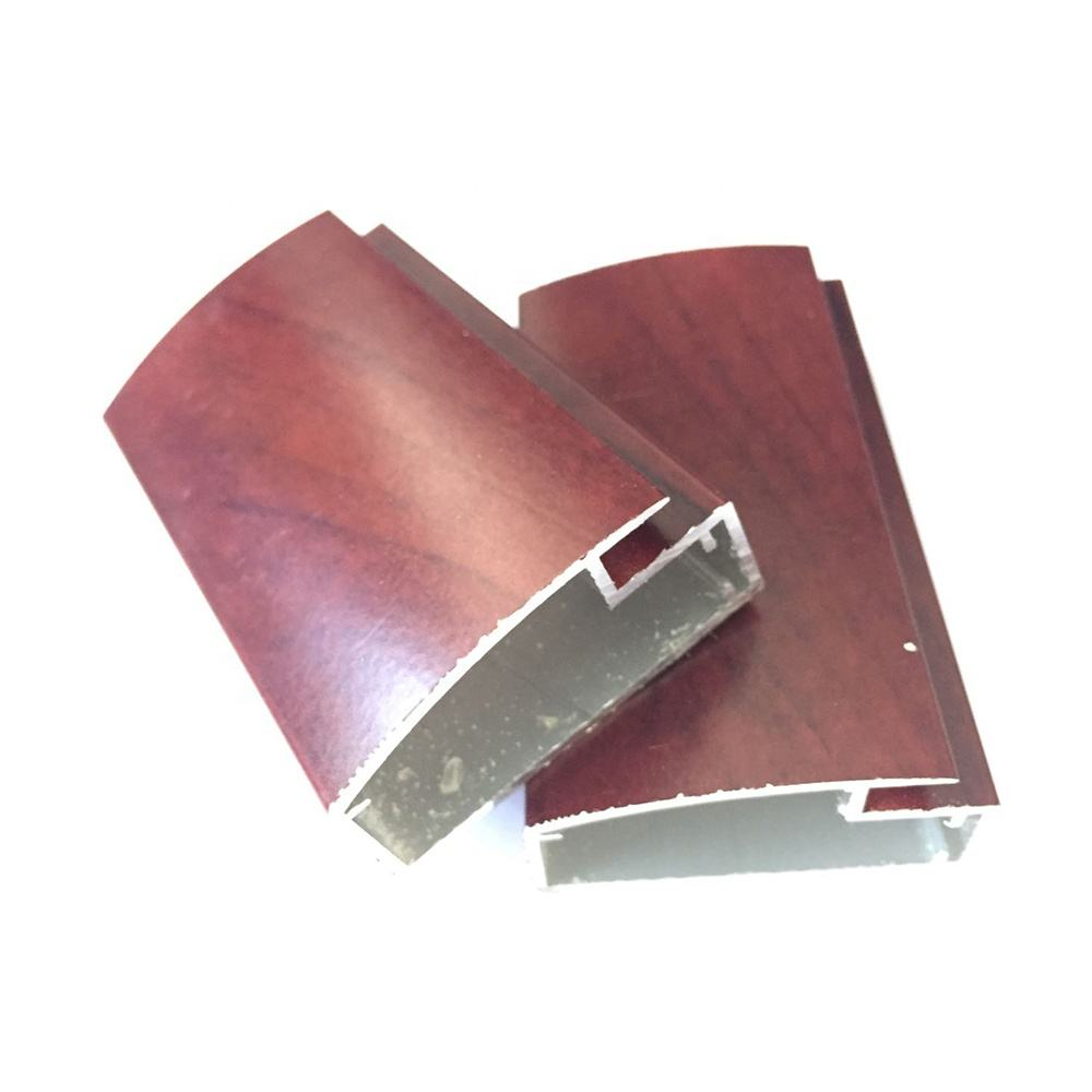 China Names of Extruded Aluminum for Modern Furniture Designs Wood Grain Kitchen Cabinet Door Furniture Aluminum Profile