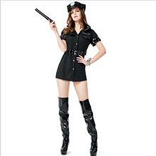 Halloween Masquerade Party Cosplay New Role PlayingCostumes Sexy Dress Sexy Policewoman Uniform Set