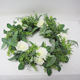 Wholesale Greenery Garland Wedding Even Decoration Eco-friendly Artificial Plant Front Door Wreath Rose Hanging