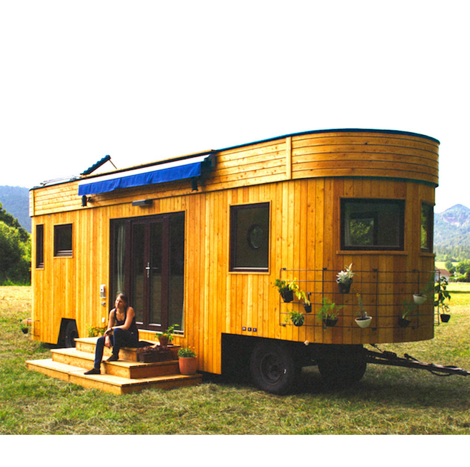 European luxury mini movable wood houses modular small mobile homes tiny houses prefab trailer homes for sale
