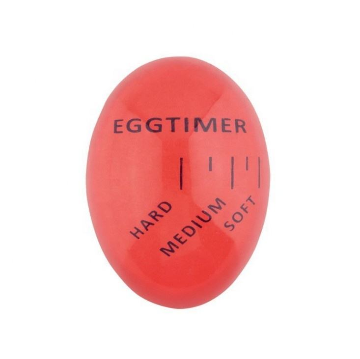 Egg-shaped Mechanical Colour Changing Egg Timer Heat Sensitive Egg Timer in Boil Water For Cooking Kitchen Tools