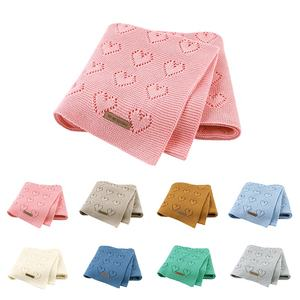 Mimixiong 100% Pure Cotton Knitted Baby Blankets Multifunction Newborn Bebes Swaddle Wrap Sleeping Muslin Blankets