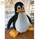 1.5m tall cute inflatable airblown penguin cartoon mascot balloon