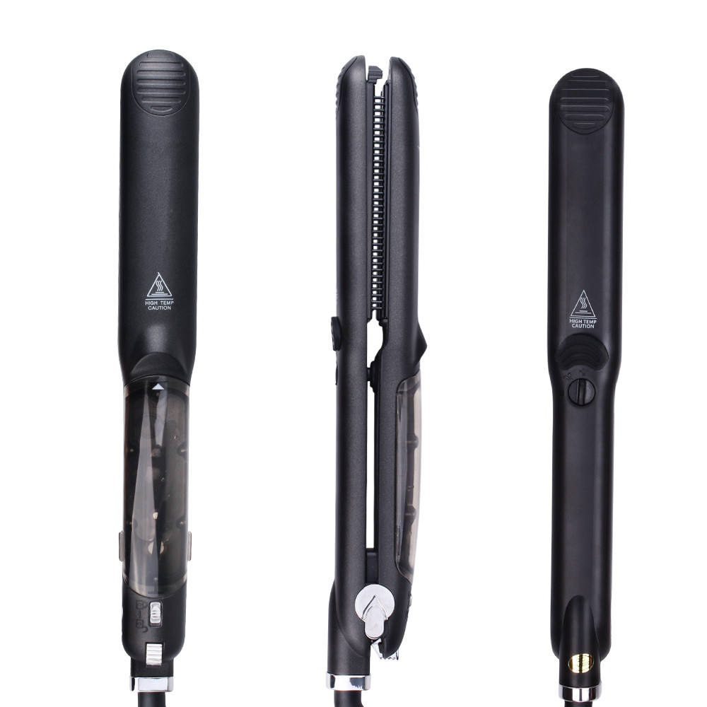 Professional Steam Hair Straightener Flat Iron 230C/450F 2 In 1 Curling Irons Metal Curler Styling Tools drop shipping Hair Iron