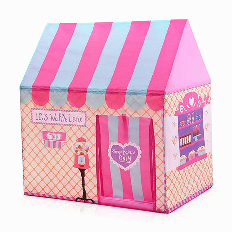Girls Pink Castle for Indoor Outdoor Use Foldable with Carry bag forest play tent