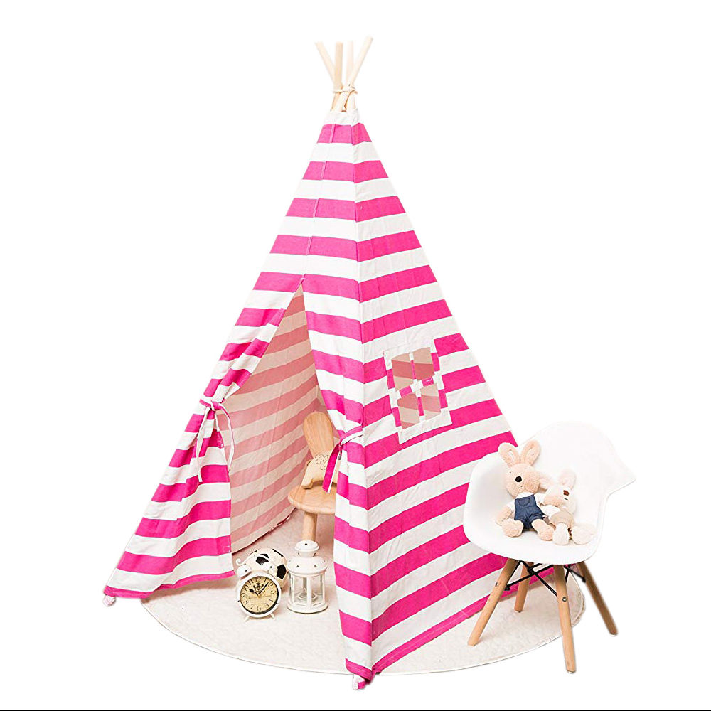 Pink Space Child Castle Camping House Tipi Teepe Tent For Kids Indoor