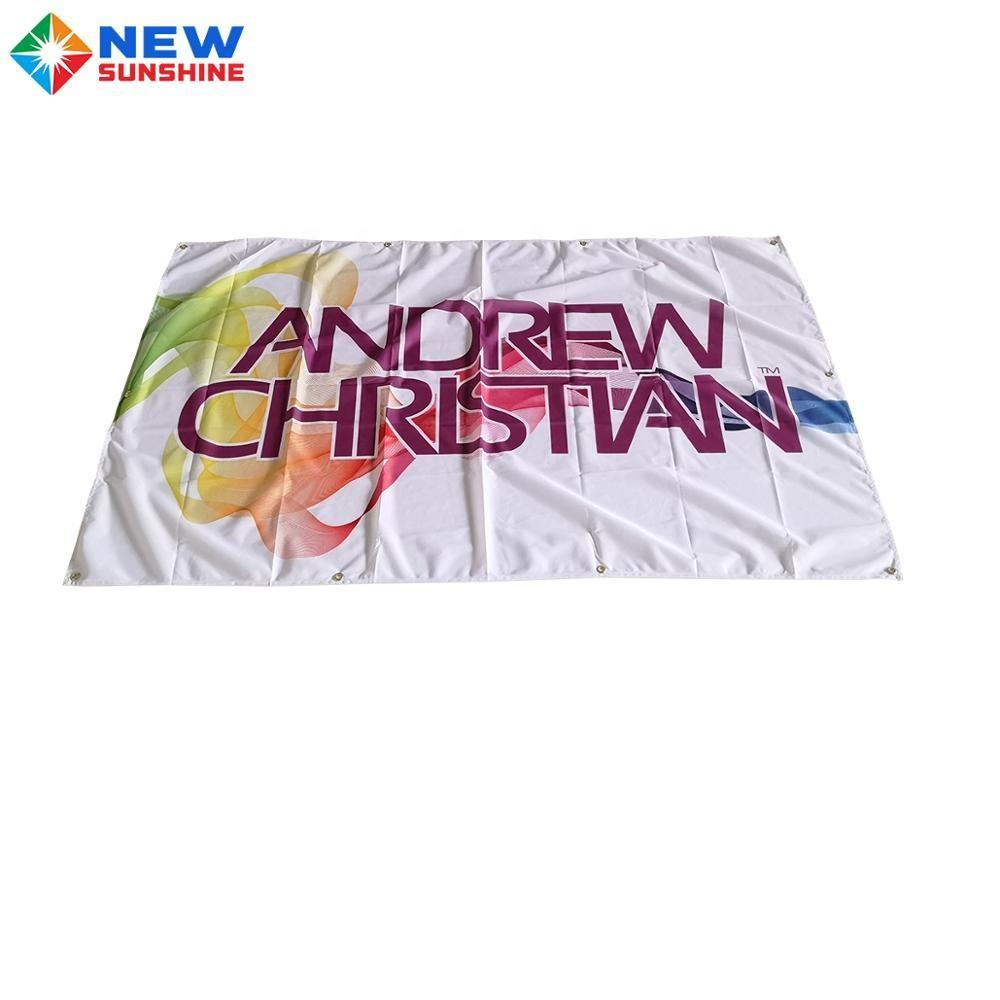 Custom Polyester printing Flag Banner 3x5 feet Customized Logo Printed Polyester Outdoor Flags Cloth Banner