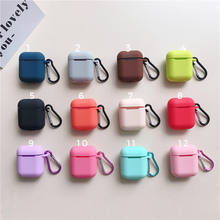 Top Sale on Amazon Strap Protective Silicone case with Carabiner for Apple Air pods Accessories