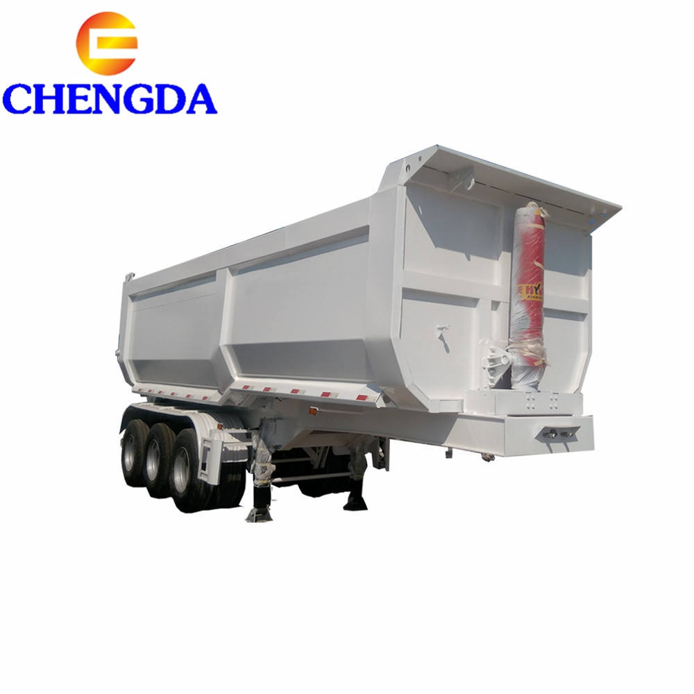 ChinaMost Popular 40 Ton 50 Ton Side Tipper / Rear Dumper Semi Trailer 3 Axles Used Dump Truck Trailer Beds Tires For Sale