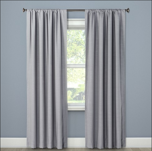 2 Panels Set Draperies, Polyester Blackout Curtain for Living Room, Thermal Insulated by woven technique