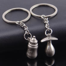 New Pacifiers Baby Feeding Bottles Key Chain Lover's Keychain lovely Couple Key chain ring