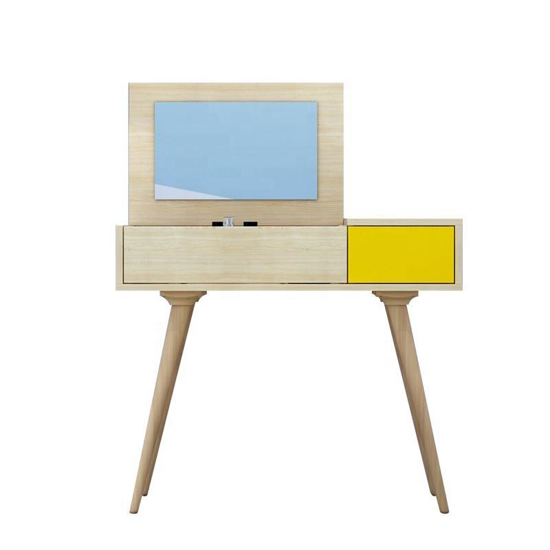 Современный скандинавский стиль деревянная мебель для спальни набор макияж комод с зеркалом и ящиком