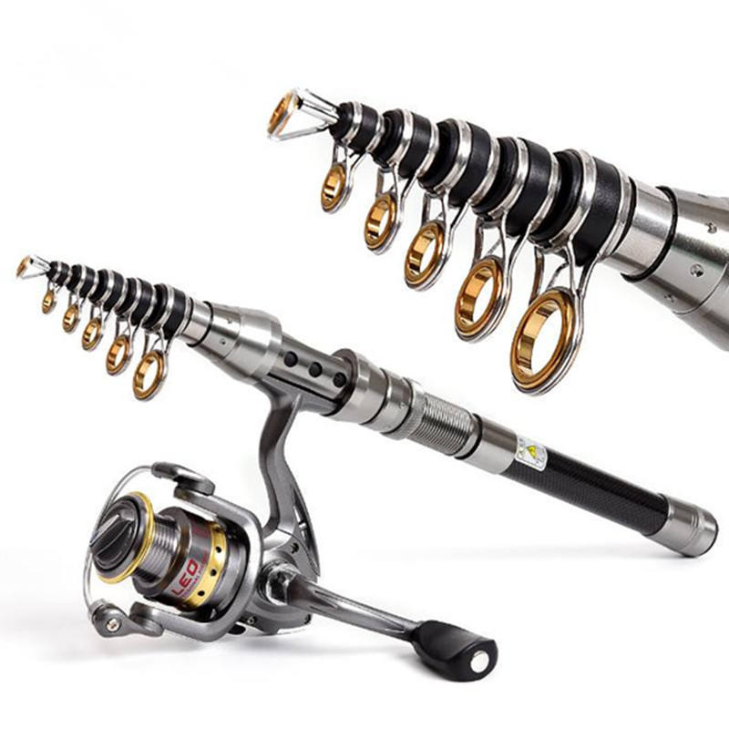 Carbon Fishing Rod 1.5M 1.8M 2.1M 2.4M 2.7M Fishing Rod Carbon Fiber Telescopic Rods Ultra Light Carp Fishing Pole