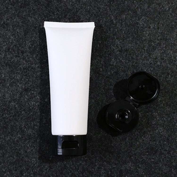 100g White Frosted Facial cleanser soft tube 100ml matte Cosmetic cream Plastic Tube
