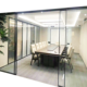 Slim aluminum frame tempered glass sliding door made in China with Malaysia price