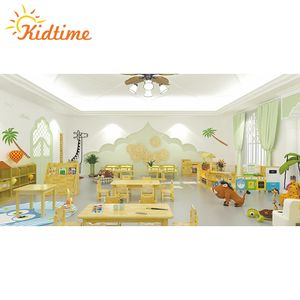 Customized size children wood daycare baby nursery kindergarten furniture equipment