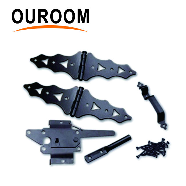 Ouroom/OEM Wholesale Products Customize XY38948Q Zinc Fence Gate Kits