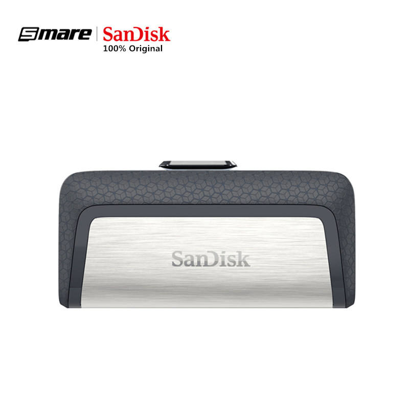 Sandisk Pendrive 32GB U Disk DUAL DRIVE USB Flash Drive 128GB Memory Stick Type - C OTG USB 3.1 64GB High Quality Usb Stick DDC2