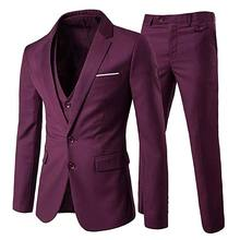 Mens Coat Vest Pants designs Wedding Suit Slim Fit Business Three Piece Sets Men Suit