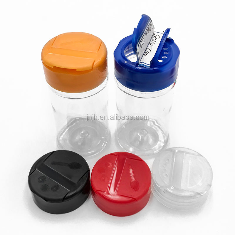 Plastic Spice Container Salt Shaker and Pepper Bottle with Flip Cap wholesale